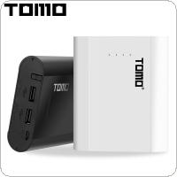 TOMO P4 USB Li-ion Intelligent Battery Charger Smart DIY Mobile Power Bank Case Support 4 x 18650 Batteries and Dual Outputs for Smartphone / Tablet