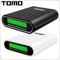 TOMO M4 USB Li-ion Intelligent Battery Charger Portable LCD Smart DIY Mobile Power Bank Case Support 4 x 18650 Batteries and Dual Outputs for Smartphone