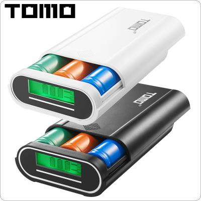 TOMO M3 USB Li-ion Intelligent Battery Charger Portable LCD Smart DIY Mobile Power Bank Case Support 3 x 18650 Batteries and Dual Outputs for Smartphone