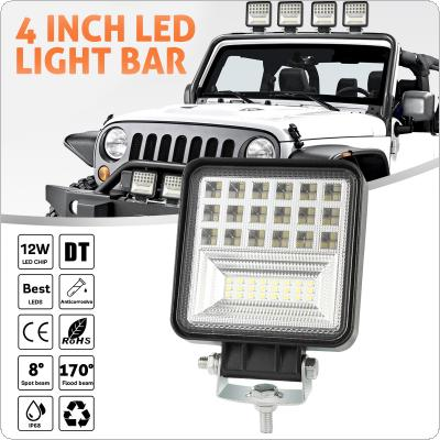 4 Inch 126W 12600LM 6 Rows Led Work Light Bar 6000K White Waterproof  for Off-Road Suv Boat 4X4 Jeep JK 4Wd Truck 12V-24V