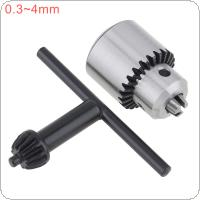 2pcs/set Mini 0.3-4mm JTO Drill Collet Chuck with 1/4'' Chuck Inner Hole Diameter and Hexagon Key Wrench for DIY Electric Drill