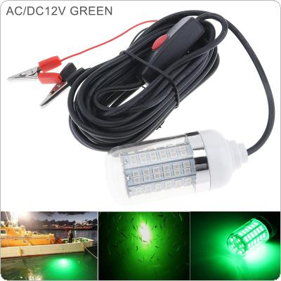 15W 12V Fishing Green Light 108pcs 2835 LED Underwater Fishing Light / Lures Fish Finder Lamp Attracts Prawns / Squid / Krill for Underwater Lighting