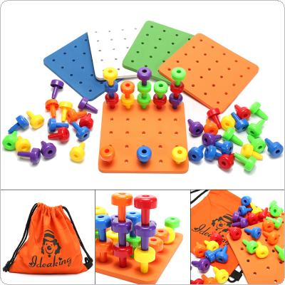 DIY Building Block Toys Developed by Manual Brain and Intelligence with Multi-color Component and Multi-shape Component for Children