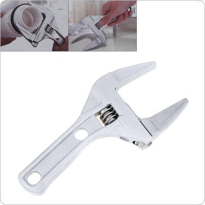 Multi-Function Aluminum Alloy Short Shank Large Opening Adjustable Wrench for Bathroom Repair and Water Pipe Air Conditioning Maintenance