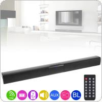 BS-28B Home Theater Sensurround Multi-function Bluetooth Sound Bar Speaker with 4 Full Range Horns / 3.5mm AUX / RCA Interface for TV / PC / Smartphone