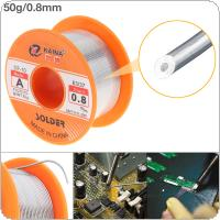 63/37 50g 0.8mm No-clean Rosin Core Solder Tin Wire Reel with 2% Flux and Low Melting Point for Electric Soldering Iron
