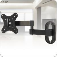 Universal 10KG Adjustable TV Wall Mount Bracket Flat Panel TV Frame Support 15 Degrees for 14 - 27 Inch LCD LED Monitor