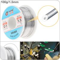 63/37 C-1 100g 1.5mm High Purity No-clean Rosin Core Solder Tin Wire Reel with 2% Flux and Low Melting Point for Electric Soldering Iron