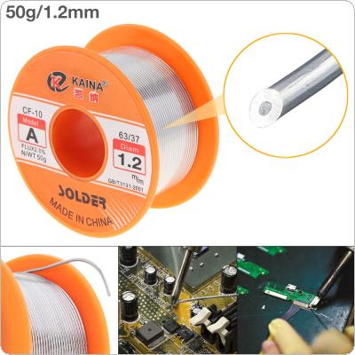 63/37 50g 1.2mm No-clean Rosin Core Solder Tin Wire Reel with 2% Flux and Low Melting Point for Electric Soldering Iron