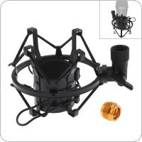 Metal Recording Studio Clip Spider Microphone Stand Shock Mount with Copper Transfer for Computer Condenser Mic
