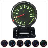 60MM 12V 8~18V 64 Backlights LED Electrical Car Volt Voltage Gauge Meter