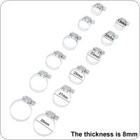 12pcs Multi Size 13mm-29mm Stainless Steel Hoop Clamp Hose Clamp for Water Pipe / Gas Pipe / Cooker Hood
