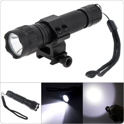 501B XM-L T6 LED 2000LM 5 Switch Modes Tactical Flashlight Suit with Mounting Clip and Pressure Switch for Drilling / Camping / Hunting / Night Fishing