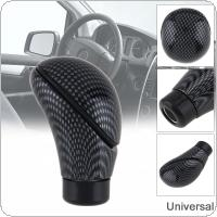 Universal Carbon Fibre Pattern Car Refit Manual Gear Shift Handball Knob with Four Plastic Adapter / Special Wrench / Mounting Screws