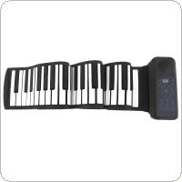 88 Keys Electronic Roll Up Piano USB MIDI Portable Silicone Flexible Keyboard Organ Built-in Speaker with Sustain Pedal
