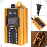 Yellow 80KW 110V-220V Smart Power Saver Household Meter Electricity Saving Box with Electronic Screen Display for Family / School / Factory