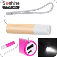 Soshine 3200mAh Lipstick Sized Portable Aluminum Power Bank with Compact External Batteries Compatible for Android Smartphones