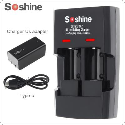Soshine SC-S5 2 Slots Li-ion RCR123 / RCR2 Rapid Battery Smart Charger with LED Indicator for 14250 / CR2 / 16340 / 17335 / 15266 Battery