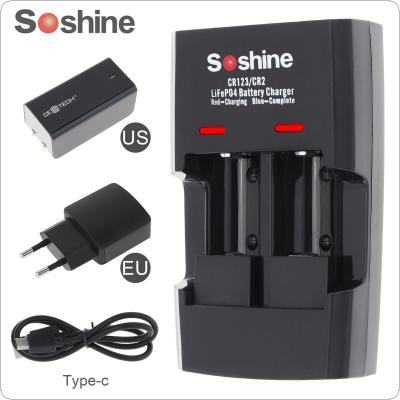 Soshine Li-FePO4 RCR 123 / CR2 Battery Intelligent Rapid Charger for 16340 / 15266 / 14250 Battery