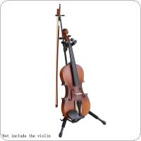 Portable Folding Aluminum Alloy Floor Violin Ukulele Stand with Stable Tripod Holder