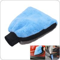 1PCS Thickening Double-sided Coralline Velvet  Dry-wet Multi-purpose Car Wipe Care Polishing Wash Towel Gloves