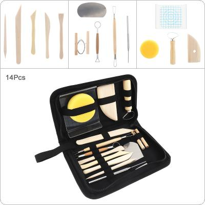 15pcs/Set Pottery Clay Sculpture Carving Tools Diy Soft Clay Plastic Hand-Made Ultra-Light Clay Kit