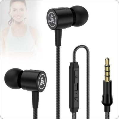 PTM D1 Metal In-Ear Headphones with Line Control and Wheat Tuning for Smartphone