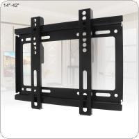 Universal 25KG Fixed Type TV Wall Mount Bracket Flat Panel TV Frame  with Level for 14 - 42 Inch LCD LED Monitor