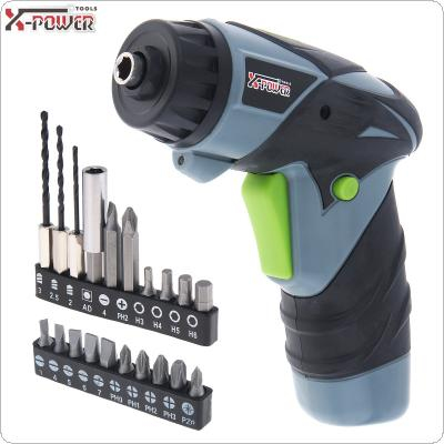 Mini AC 220V Cordless Rechargeable 3.6V Electric Screwdriver with LED Lighting and Bidirectional Switch for Household Maintenance