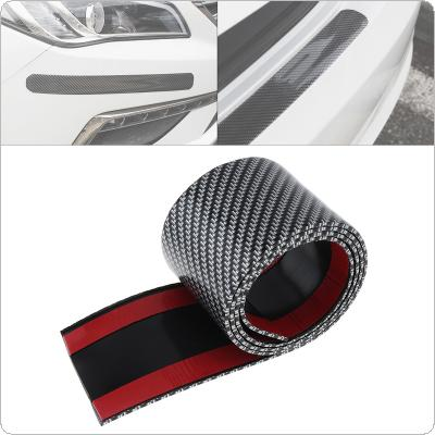Universal PVC Carbon Fiber 100CM x 7CM Car Door Pedal Bumper Anti Collision / Friction Protection Sticker