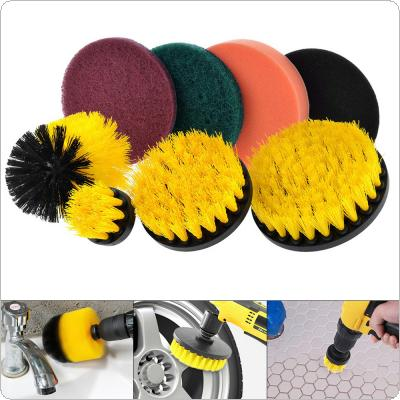 8pcs/set Power Cleaning Brush Tool with Cleaning Brush and Scouring Pad for Dirt / Floors / Baths / Showers / Tiles / Corners / Bathrooms and Kitchen Surfaces