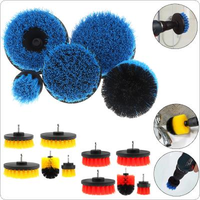 "5pcs/set 2""  3.5""  4""  5"" Power Scrubber Brush for Cleaning Bathroom Carpet Tile Sink Plastic Mechanical Tool Brush"