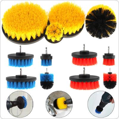 "4pcs/set 2"" 3.5"" 4"" 5"" Power Scrubber Brush for Cleaning Bathroom Carpet Tile Sink Plastic Mechanical Tool Brush"