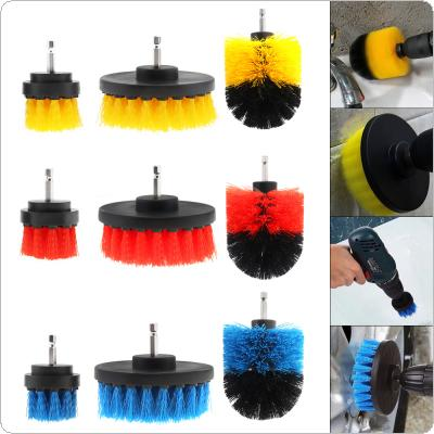 "3pcs/Set 2"" 3.5"" 4"" Power Scrubber Brush for Cleaning Bathroom Carpet Tile Sink Plastic Mechanical Tool Brush"
