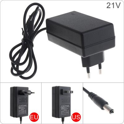 90cm 21V Power Adapter Charger with EU Plug and US Plug for Lithium Electric Drill / Screwdriver / Wrench