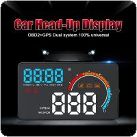Universal D2500 3.5 Inch HD Intelligent Head Up Display with OBD and GPS Dual System Display for Automobile