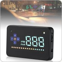 Universal A2 3.5 Inch HD Intelligent Head Up Display with Color Screen for Automobile
