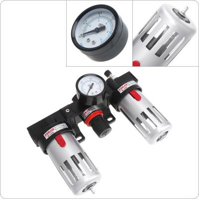 BC3000 Air Compressor 0-1.0mpa Adjustable Three Union Oil Water Separator Regulator PT3/8(mm) Caliber with Gauge