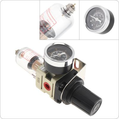 AW2000-02 Air Compressor 0-1.0mpa Adjustable Oil Water Separator Regulator PT1/4(mm) Caliber with Gauge