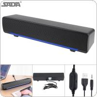 SADA V-196 Strip Speaker Wireless Desktop Multi-media Sound Bar with Dual Speaker DSP and Mixing Sound for Household / Office