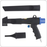 Pneumatic Blowing Dust and Vacuuming Dual-use Gun Suction Gun with 90cm Air Tube and 3pcs Nozzles for Vacuuming and Dust Removal