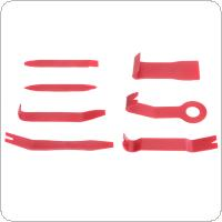 7pcs Universal Plastic Red Portable Car Interior Door Panel Refitting Audio Disassembly Tool
