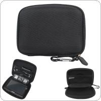 4.3 Inch Black EVA Nylon Fabric Multifunctional Waterproof Shockproof Car GPS Navigator Bag with Hexagonal Mesh Bags