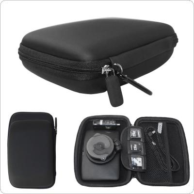 6 Inch Black EVA + PU  Multifunctional Car GPS Navigator Shockproof Bag with Hexagonal Mesh Bags