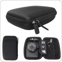 6 Inch Black EVA + PU  Multi  Functional Car GPS Navigator Shockproof Bag with Hexagonal Mesh Bags