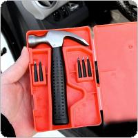 5pcs Universal Iron Chrome + Rubber Car Vacuum Tire Emergency Fast Repair Leak-filling Tire-repairing Nails Tool Kit with Claw Hammer