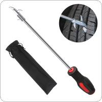 Universal Zinc Alloy Tire Crevice Clearing Hook Stone Tool with Black Storage Bag for Car / Motorcycle / Truck