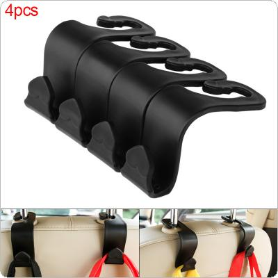 4pcs 20KG Universal PP Multi-function No-demolition Car Luggage Carrier Heart-shaped Chair Back Hook