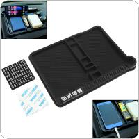 Black Universal PVC Rubber Car Multi-function Storage Non-slip Mat with Digital Card