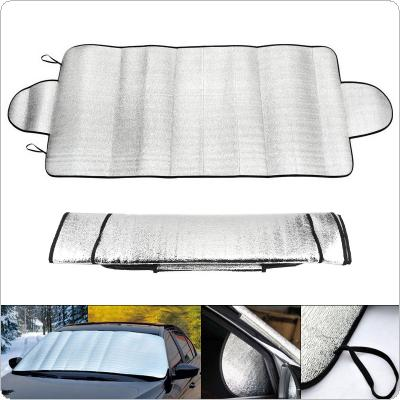 Universal Upset Car Front Windshield Aluminum Foil UV / Ice / Snow Protector Sun Shade Cover